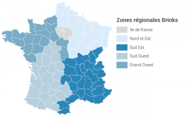 Zones régionales Brinks