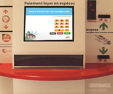 l'automate de paiement des loyers assure un système d'encaissement sécurisé